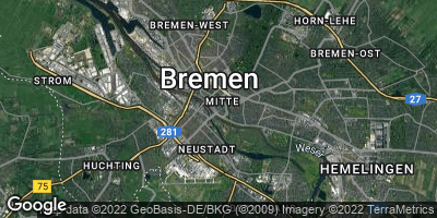 Google Map of Bremen