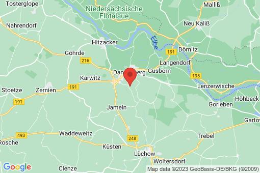 Karte Dannenberg (Elbe) Bückau