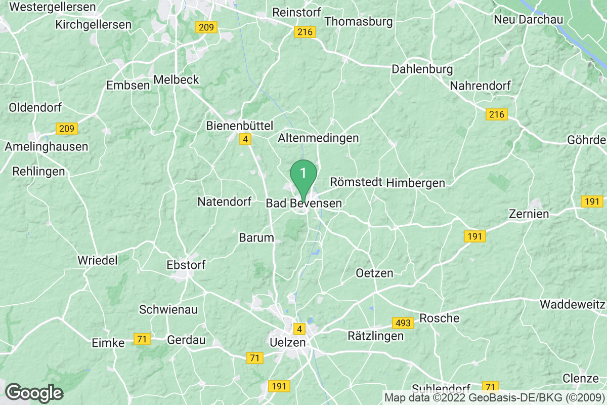 Google Map of Bad Bevensen