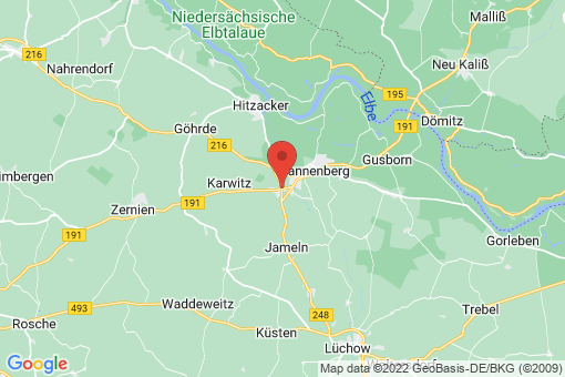Karte Dannenberg (Elbe) Prisser