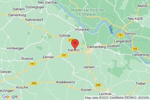 Karte Karwitz Lenzen