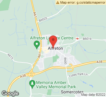 Map of Flowers By Marcus at 18 Nottingham Road, Alfreton, Derbyshire DE55 7HL