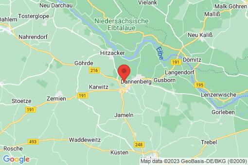 Karte Dannenberg (Elbe) Lüggau