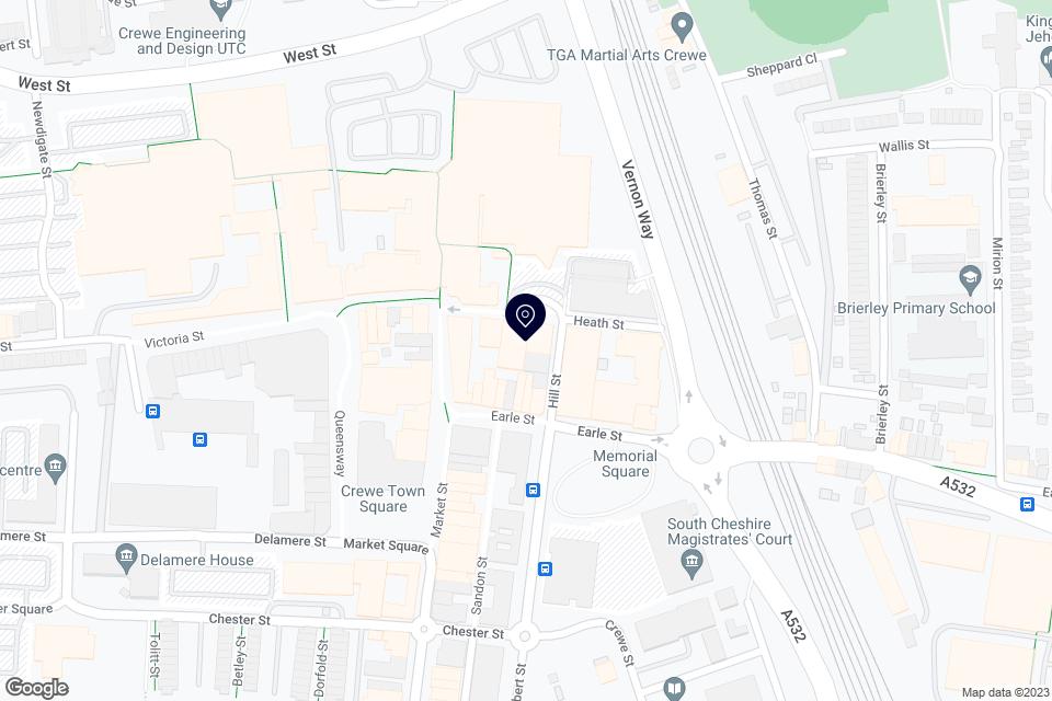 Heath Street, Crewe, CW! 2DA map