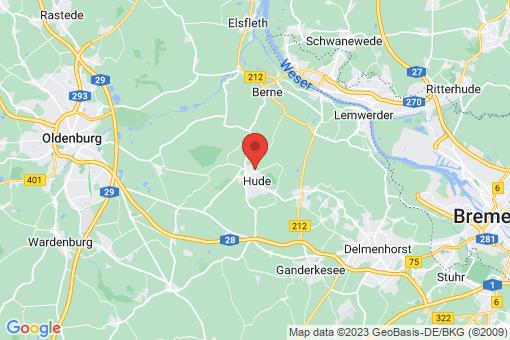 Karte Hude (Oldenburg)