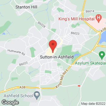 Map of wilko Sutton-In-Ashfield at 1-5 Outram Street, Sutton-In-Ashfield,  NG17 4BA