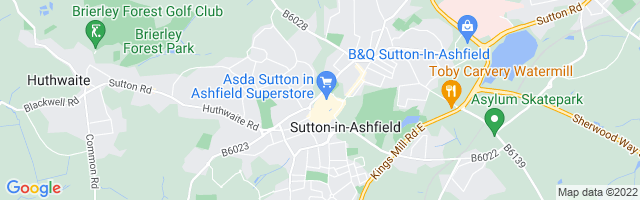 Map Of Sutton-in-Ashfield
