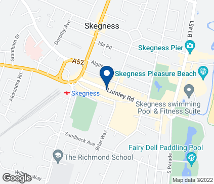 Map of Skegness in Lincolnshire