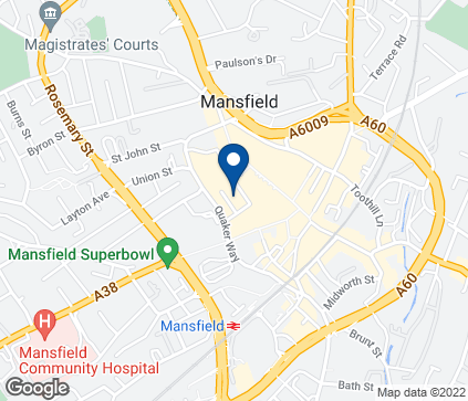 Map of 39 Four Seasons Shopping Centre in Mansfield