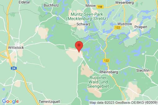 Karte Rheinsberg Flecken Zechlin