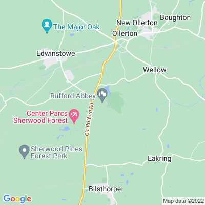 Rufford Abbey Country Park Location