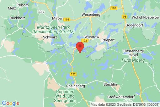 Karte Rheinsberg Kleinzerlang