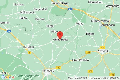 Karte Gülitz-Reetz