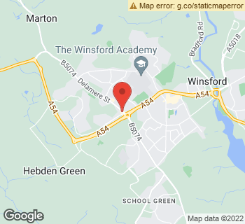 Map of Forget Me Not at 5 Delamere Street, Winsford, Cheshire CW7 2LX