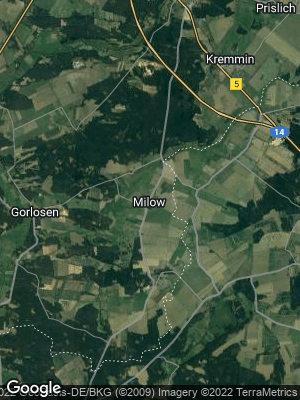 Google Map of Milow bei Ludwigslust