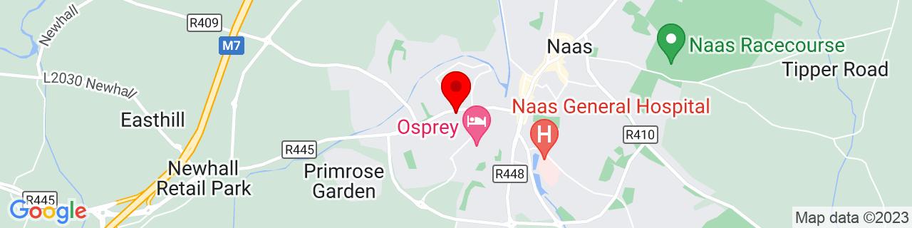 Google Map of 53.21568333333334, -6.67295