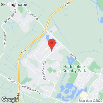 Map of Bargain Booze Larchwood Cresent at 8 Larchwood Cresent, Lincoln, Lincolnshire LN6 0NA