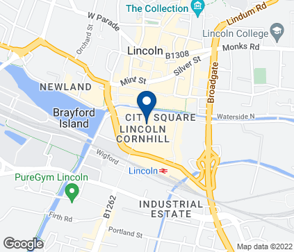 Map of 311-312 High Street in Lincoln