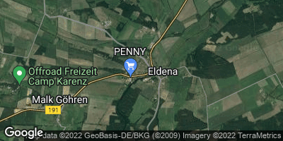 Google Map of Eldena an der Elde