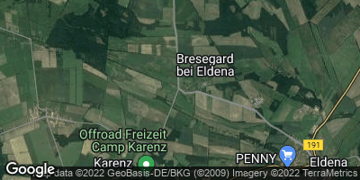 Google Map of Bresegard bei Eldena