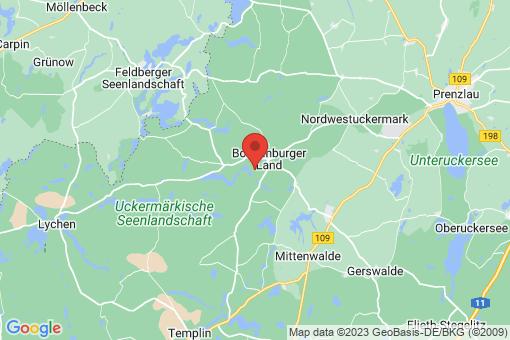 Karte Boitzenburger Land