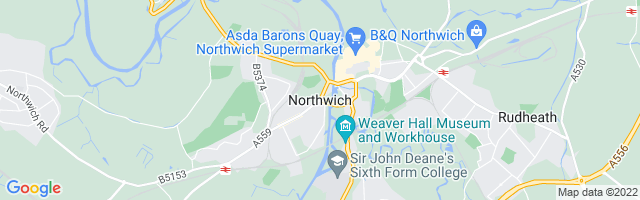 Map Of Northwich