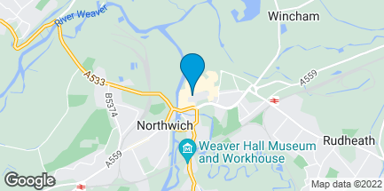 Map of 33 Witton Street in Northwich