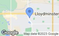 Map of Lloydminster, AB