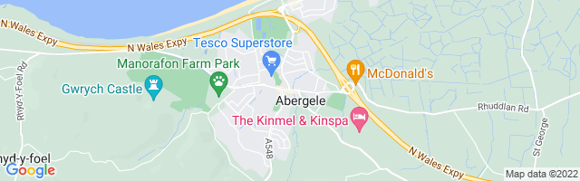 Map Of Abergele