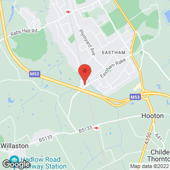 Map of Bargain Booze Plus Eastham Rake at 192 Eastham Rake, Eastham, Wirral CH62 9AL