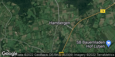 Google Map of Hambergen bei Bremen