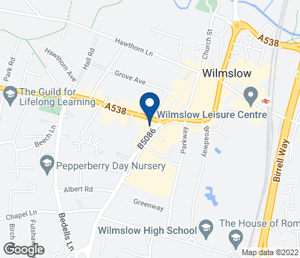 Map of 16 Alderley Road in Wilmslow