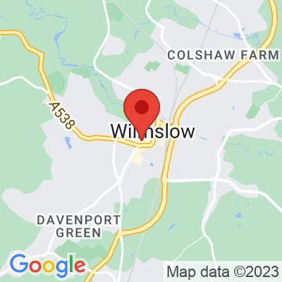 Map showing Just Between Friends - Wilmslow