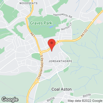 Map of wilko St James Retail Park at St James Retail Park, Sheffield, Yorkshire S8 8BR