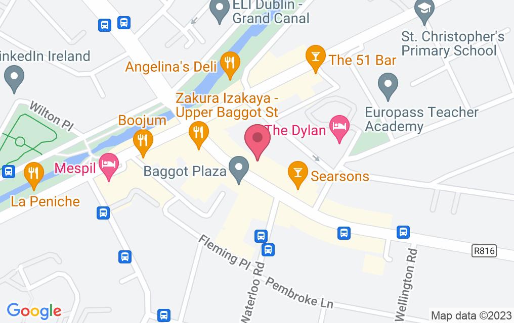 Get directions to Saba - Baggot Street