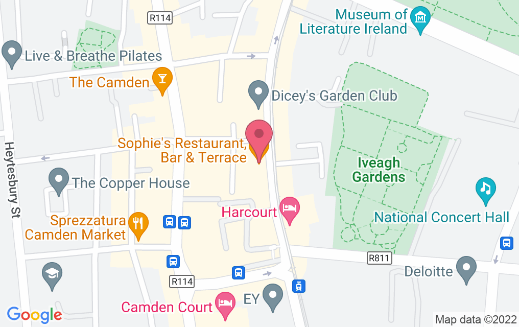 Get directions to Sophie's @ The Dean Dublin