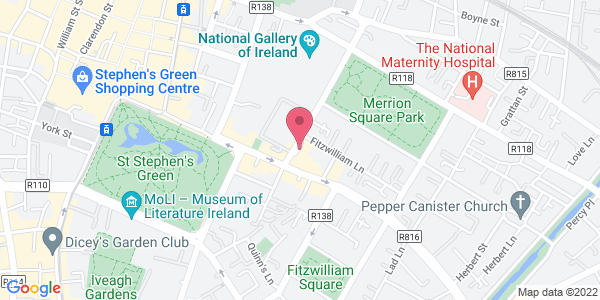 Get directions to The Garden Room at The Merrion Hotel