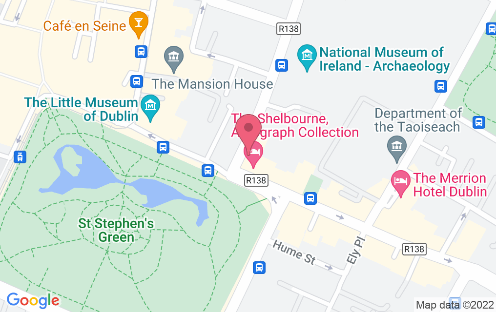 Get directions to The Saddle Room at the Shelbourne Hotel