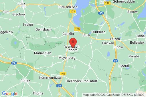 Karte Wendisch Priborn