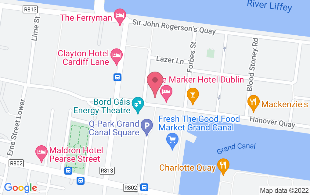 Get directions to The Brasserie at The Marker Hotel