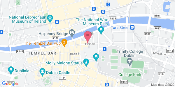 Get directions to Toast at Temple Bar Hotel