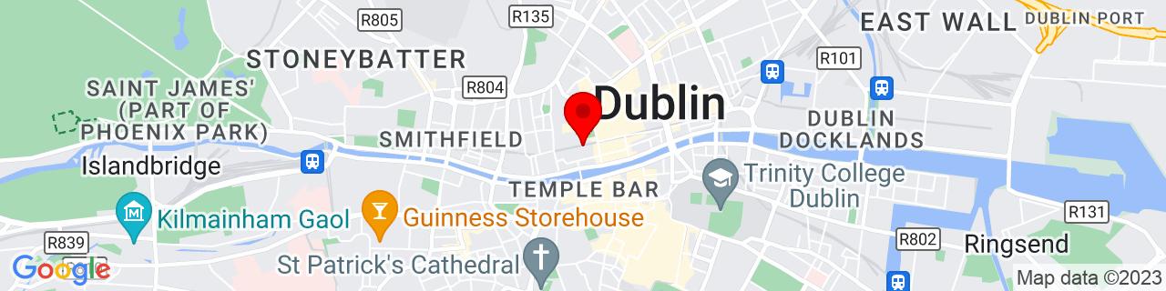 Google Map of 53.347344444444445, -6.267502777777778