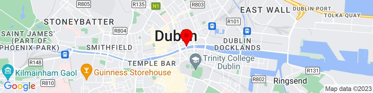 Google Map of 53.347905555555556, -6.257216666666666