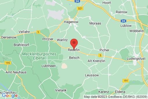 Karte Redefin
