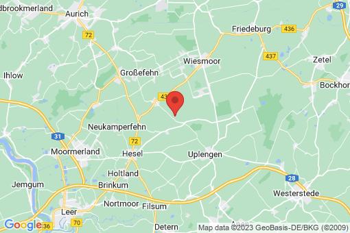 Karte Großefehn Fiebing