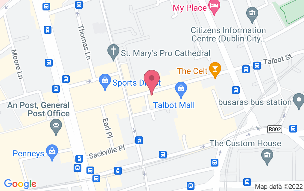 Get directions to 101 Talbot Street