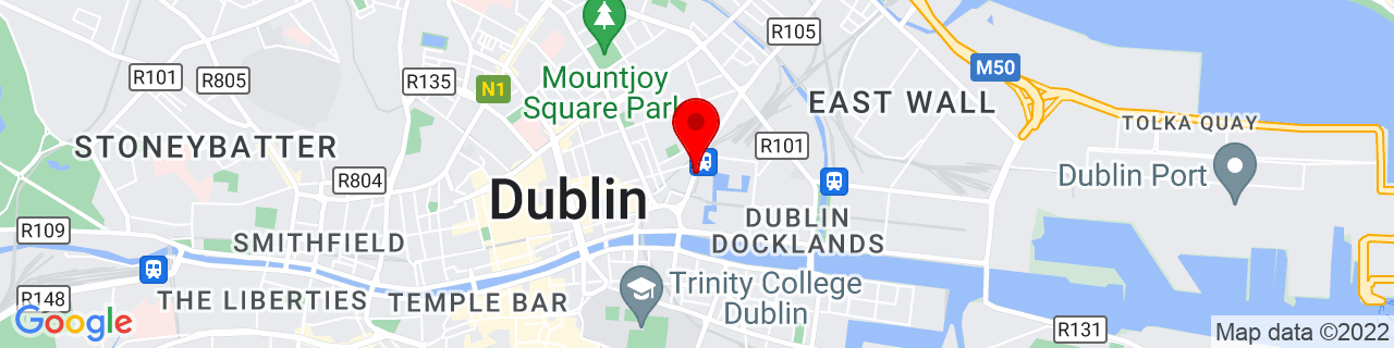 Google Map of 53.350947222222224, -6.250244444444444