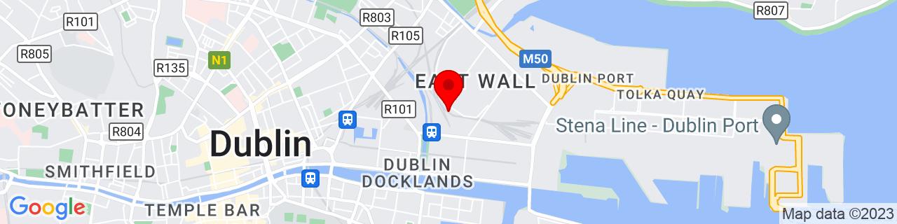 Google Map of 53.352072222222226, -6.237358333333334