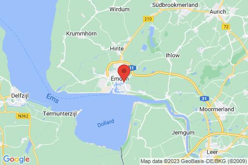 Karte Emden