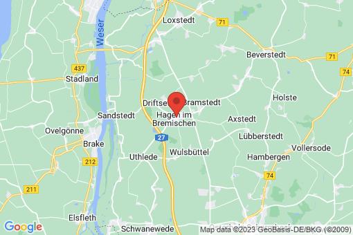 Karte Hagen im Bremischen
